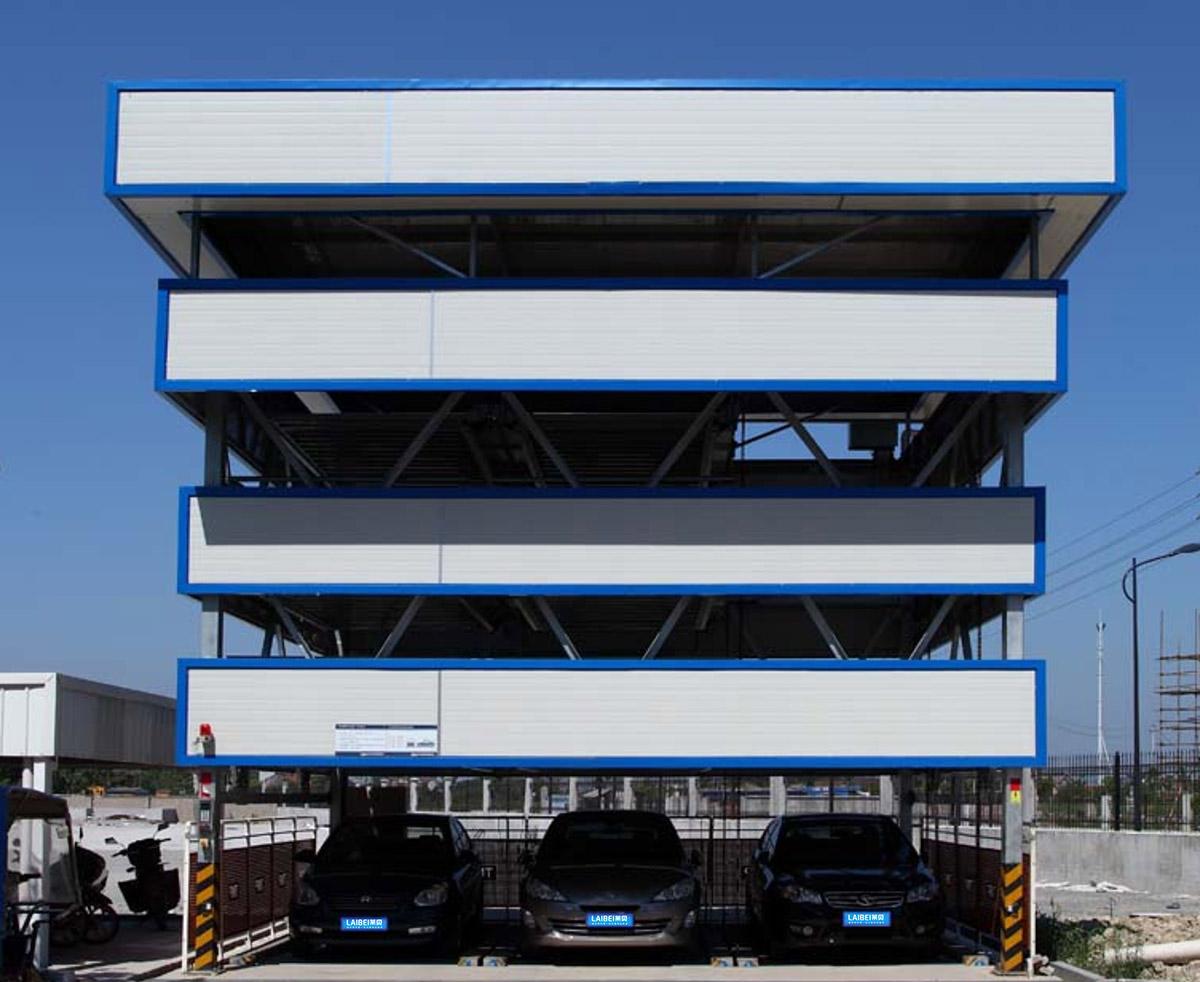 绵竹自动车库负一正三地坑四层升降横移停车